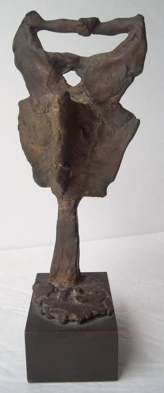 American Emerson Woelffer Bonze  Sculpture, Abstract Face, Signed, Dated, Numbered For Sale