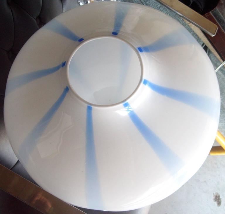 Massimo Vignelli for Venini Murano Glass Ceiling Lamp/ Light Pendant In Excellent Condition For Sale In Los Angeles, CA
