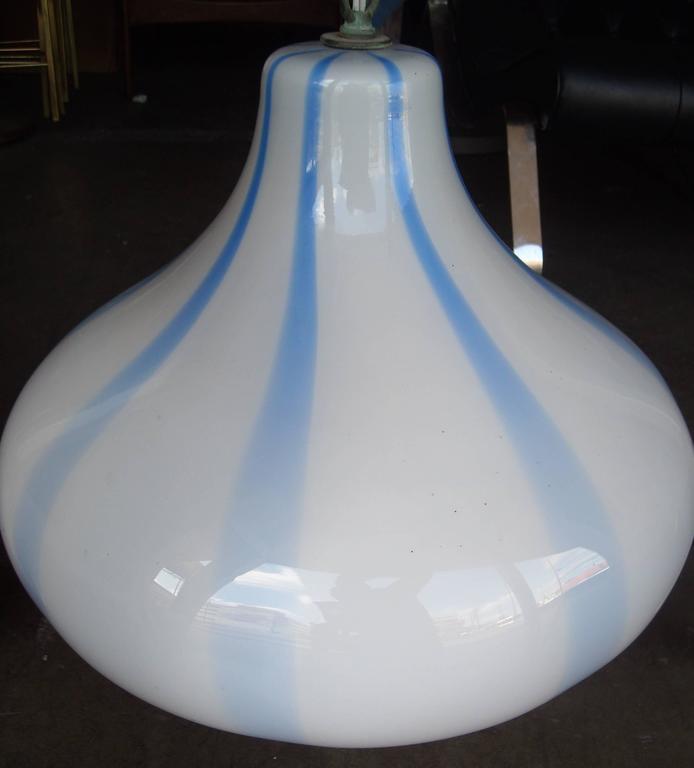 Massimo Vignelli for Venini Murano Glass Ceiling Lamp/ Light Pendant For Sale 1
