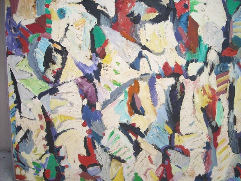 Post-Modern Ed Gilliam Oil Painting on Canvas, Abstract Expressionism, Signed, Dated  For Sale