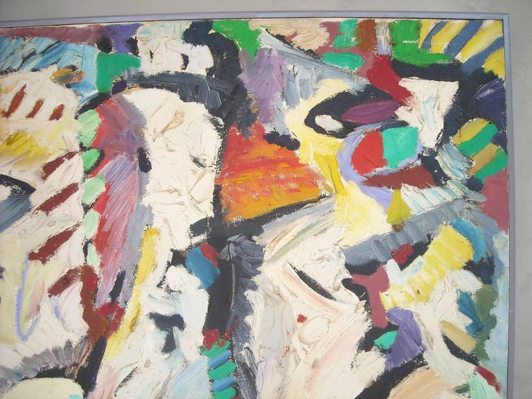 American Ed Gilliam Oil Painting on Canvas, Abstract Expressionism, Signed, Dated  For Sale