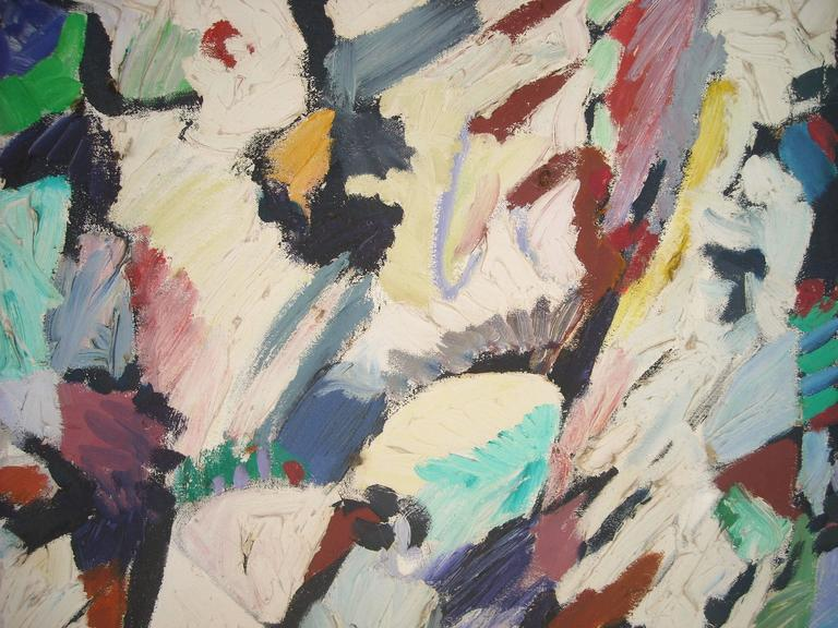 Ed Gilliam Oil Painting on Canvas, Abstract Expressionism, Signed, Dated  In Excellent Condition For Sale In Los Angeles, CA