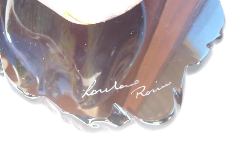 """Loredano Rosin Murano Glass, Sculpture, """"the Face"""" Head, Signed 3"""