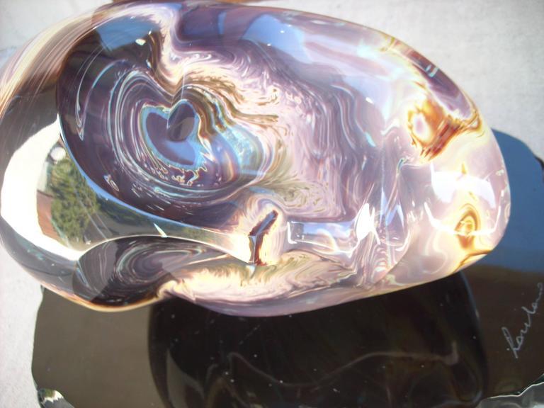 """Loredano Rosin Murano Glass, Sculpture, """"the Face"""" Head, Signed 4"""