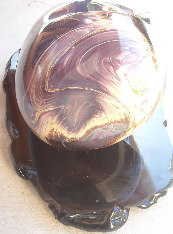 """Loredano Rosin Murano Glass, Sculpture, """"the Face"""" Head, Signed 5"""
