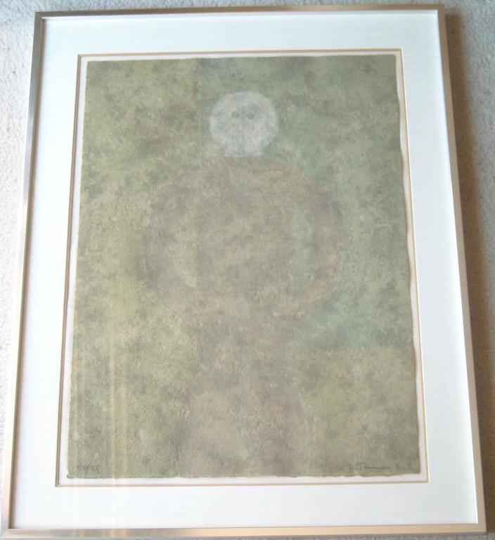 Rufino Tamayo, Personaje en Gris, Lithography in Colors, Signed, Numbered,Framed 6