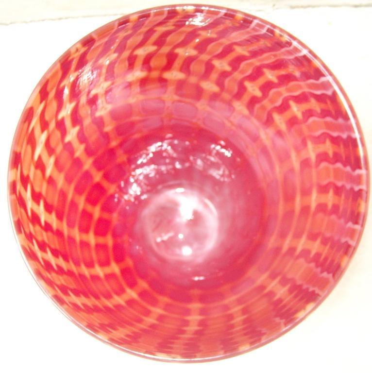 """Archimede Seguso Murano Glass Vase,"""" Losanghe"""" Work 3"""