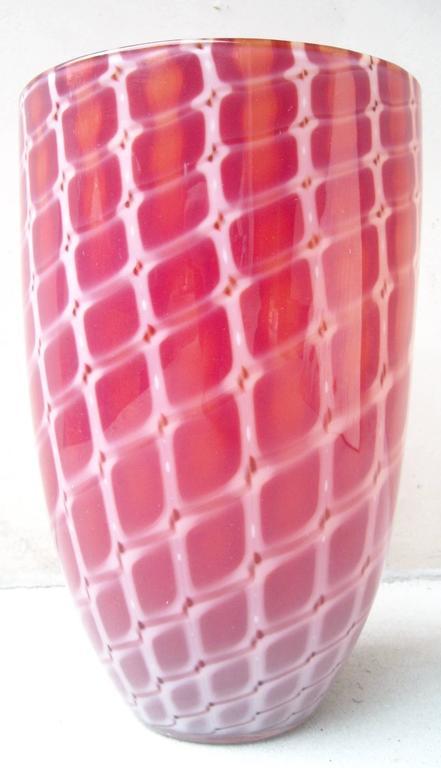 """Archimede Seguso Murano Glass Vase,"""" Losanghe"""" Work 5"""