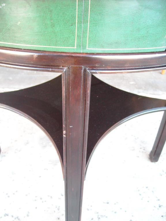 Tommi Parzinger for Charak, Side Occasional Round Leather Table, Leather 5
