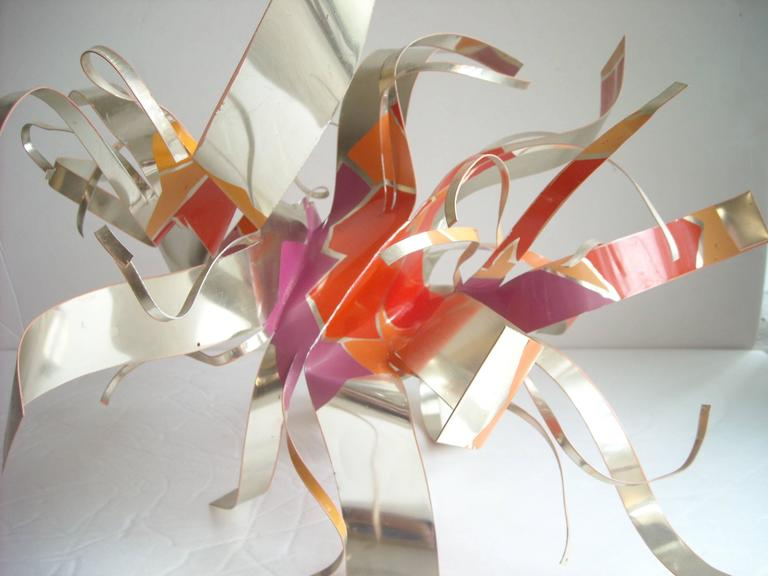 Dorothy Gillespie Aluminum Abstract Sculpture, Signed, Dated, Pop 3
