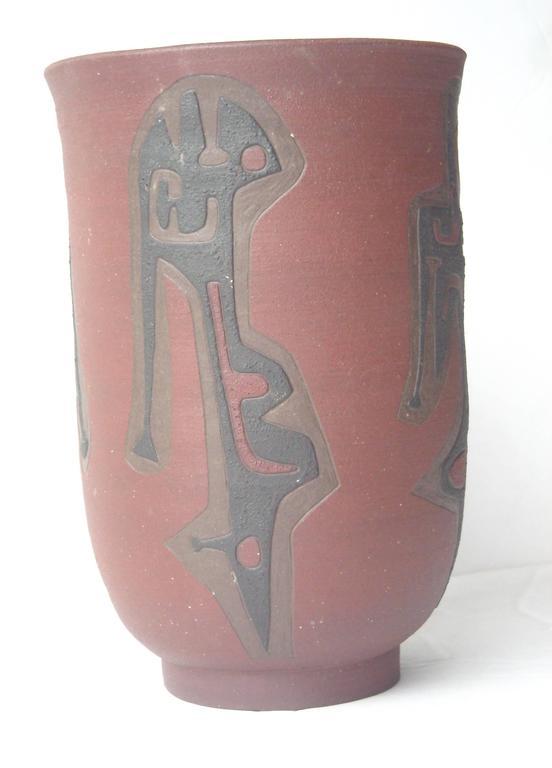 Leonard Waegell Edmondson, Ceramic Vase, Dated, Signed, 1953 6