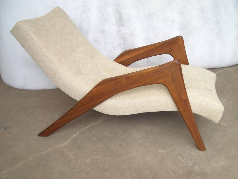 "Modern Adrian Pearsall ""Grasshopper"" Walnut, Lounge Chair For Sale"