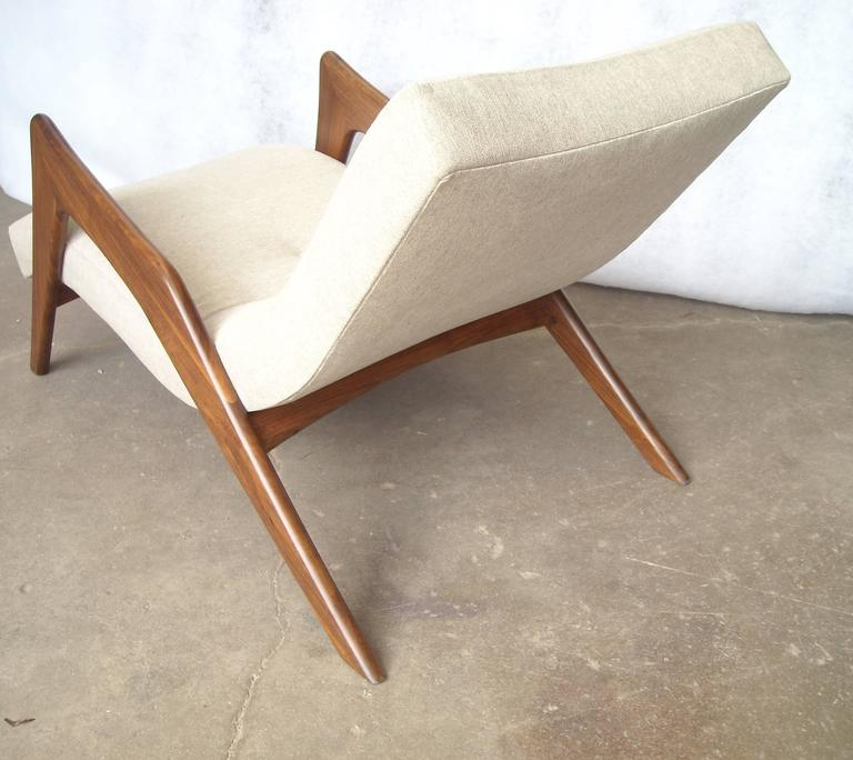 "American Adrian Pearsall ""Grasshopper"" Walnut, Lounge Chair For Sale"