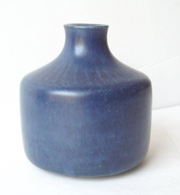 Saxbo, Cobalt Blue Ceramic, Pottery Vase by Edith Sonne, Signed, Marked 2