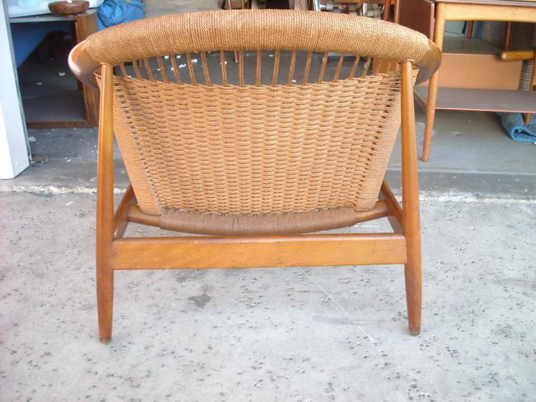 "Illum Wikkelso ""Ringstol"" Ring Chair, Rope, Walnut 2"
