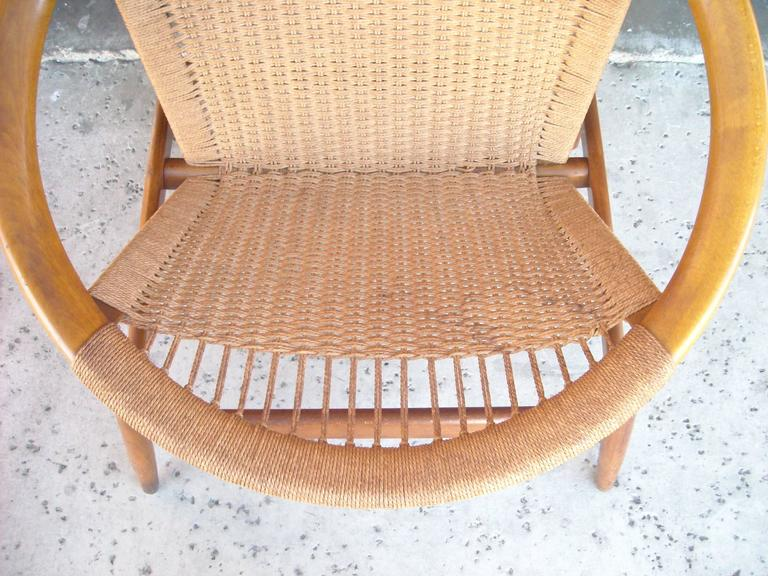 "Illum Wikkelso ""Ringstol"" Ring Chair, Rope, Walnut 6"