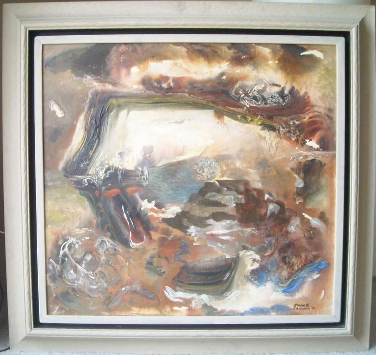 Kenneth Callahan Large, Tempera, Masonite Painting, Dated and Signed For Sale 3