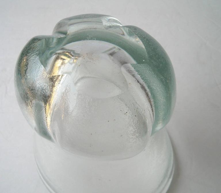 """Calo Scarpa """"Corroso Vase"""" by Venini Murano Glass, Signed 4"""