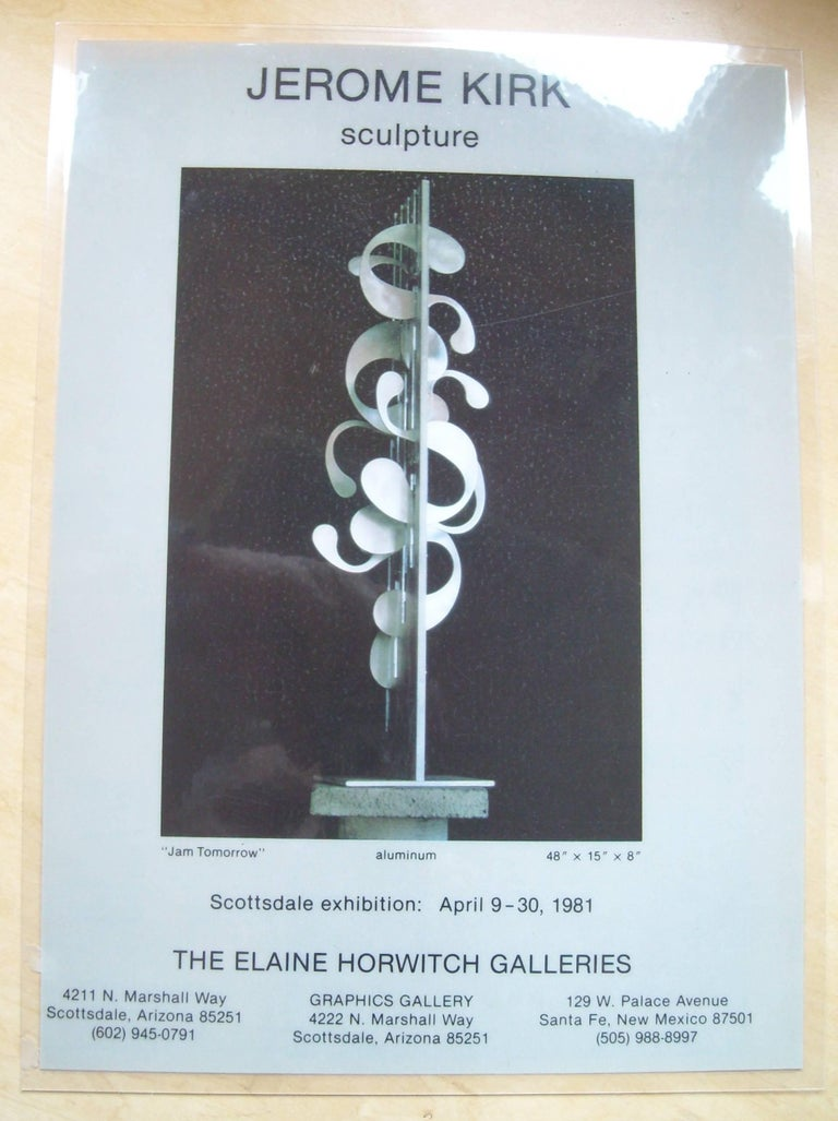 American Jerome Kirk, Monumental Kinetic Metal Abstract, Sculpture, Signed, Titeled  For Sale