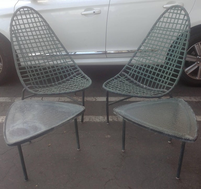"John Caldwell for Brown Jordan ""Mai Tai"" Lounge Chairs and Tables 4"