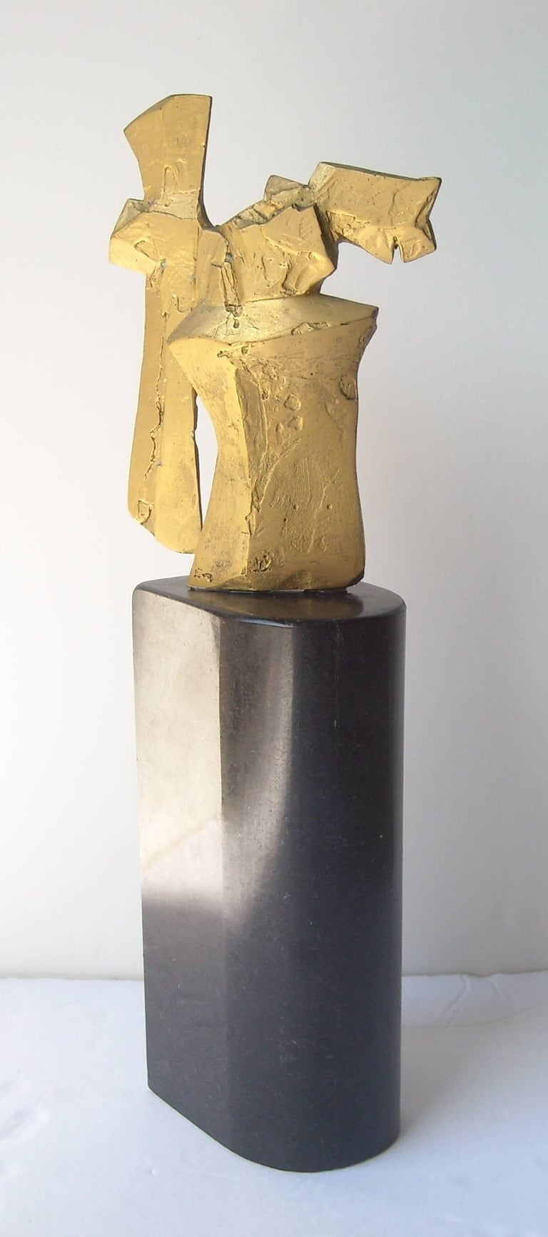 "Dimitri Hadzi Abstract Bronze Sculpture ""Talos 1"", Signed 5"