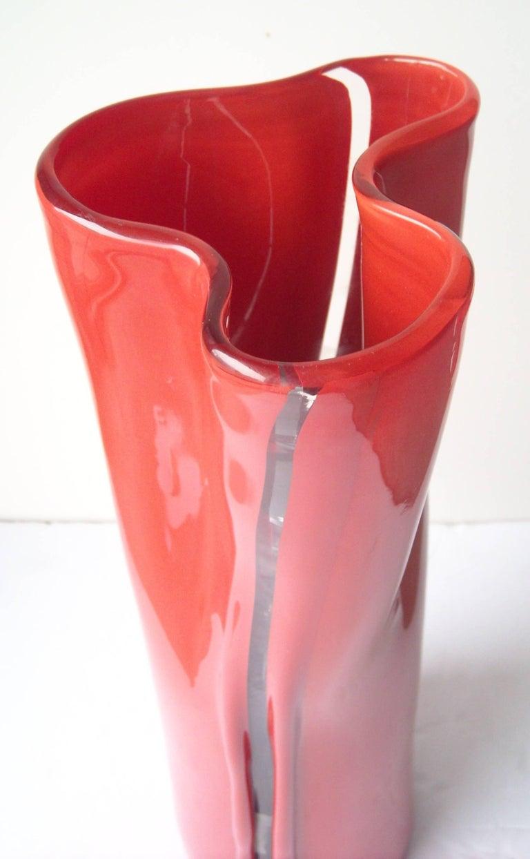 Modern Toni Zuccheri Murano Glass Vase for Venini,