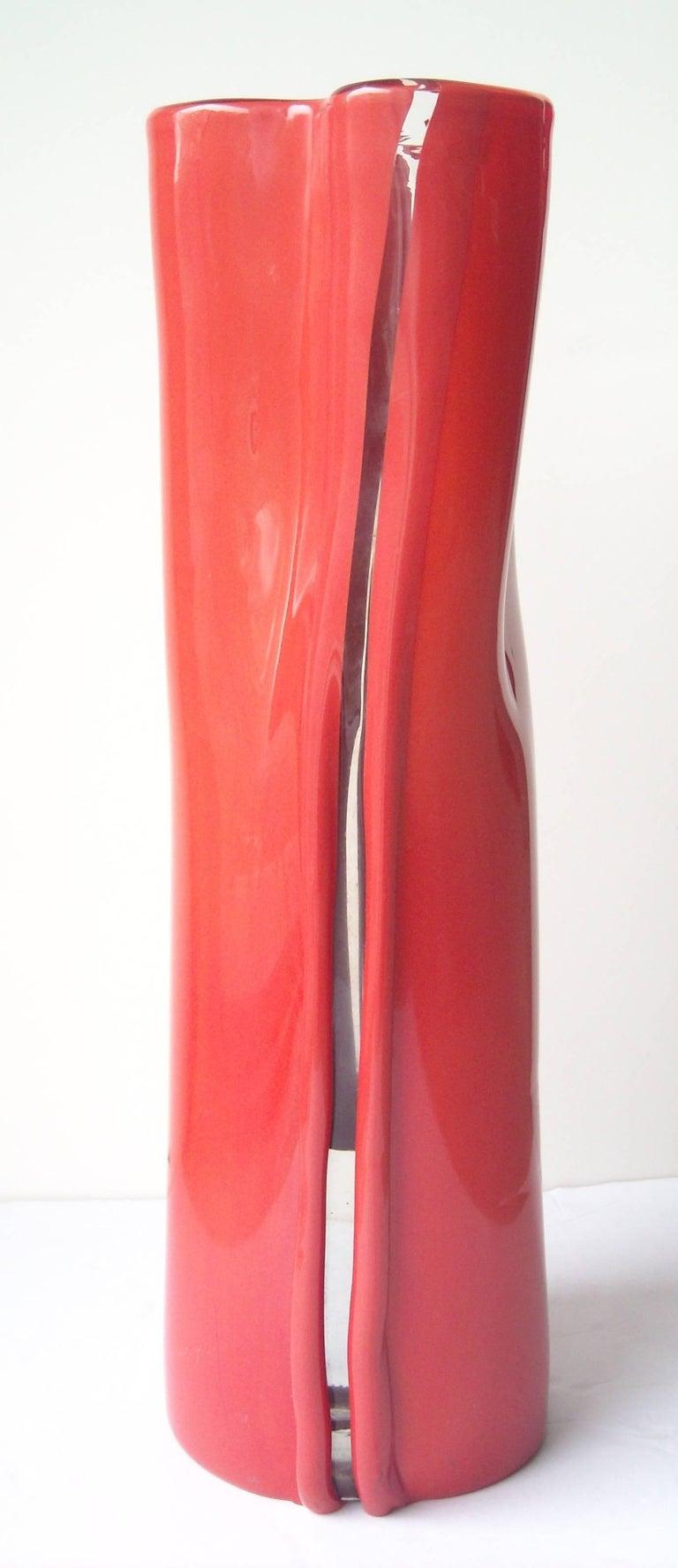 Toni Zuccheri Murano Glass Vase for Venini,