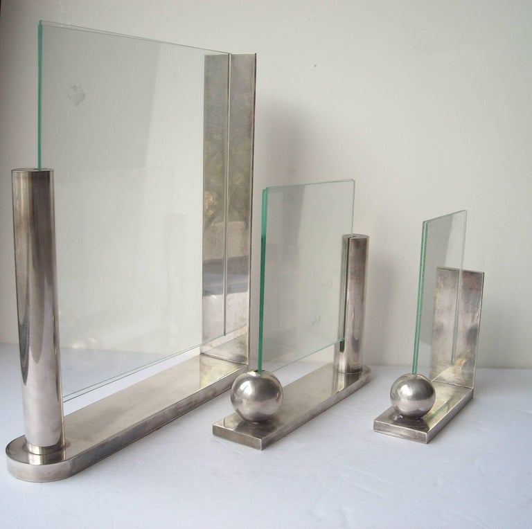 Modern Richard Meier, Three Silver Plate Picture Frames for Swid Powell, Stamped For Sale