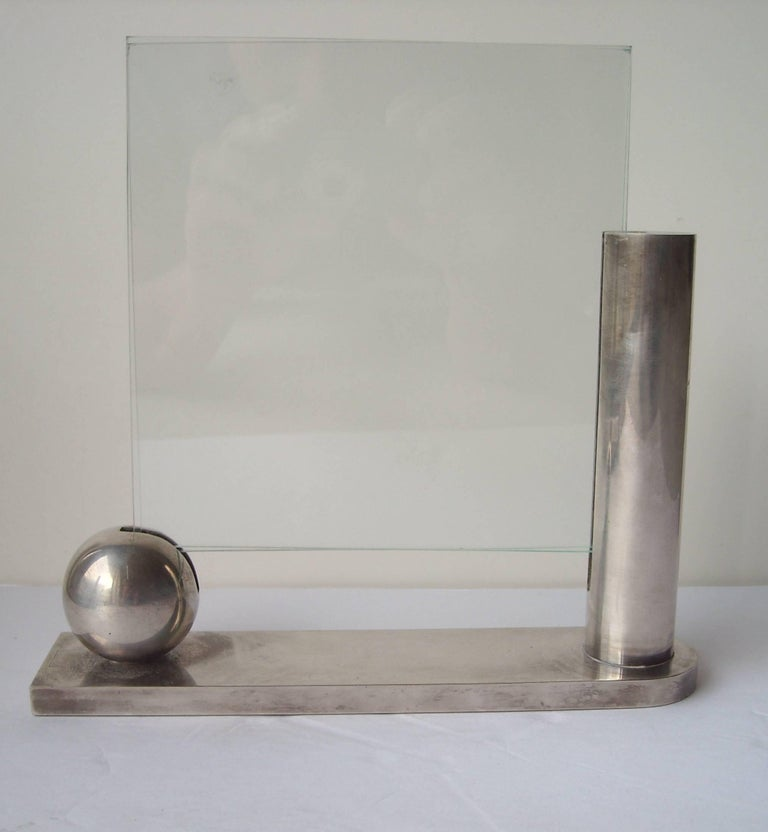 Richard Meier, Three Silver Plate Picture Frames for Swid Powell, Stamped In Excellent Condition For Sale In Los Angeles, CA