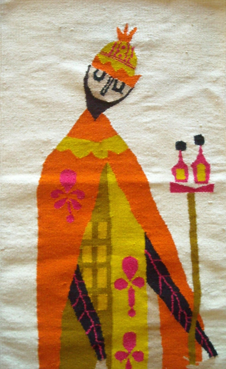 Modern Evelyn Ackerman Wall Tapestry, Wool, Label, Signed For Sale