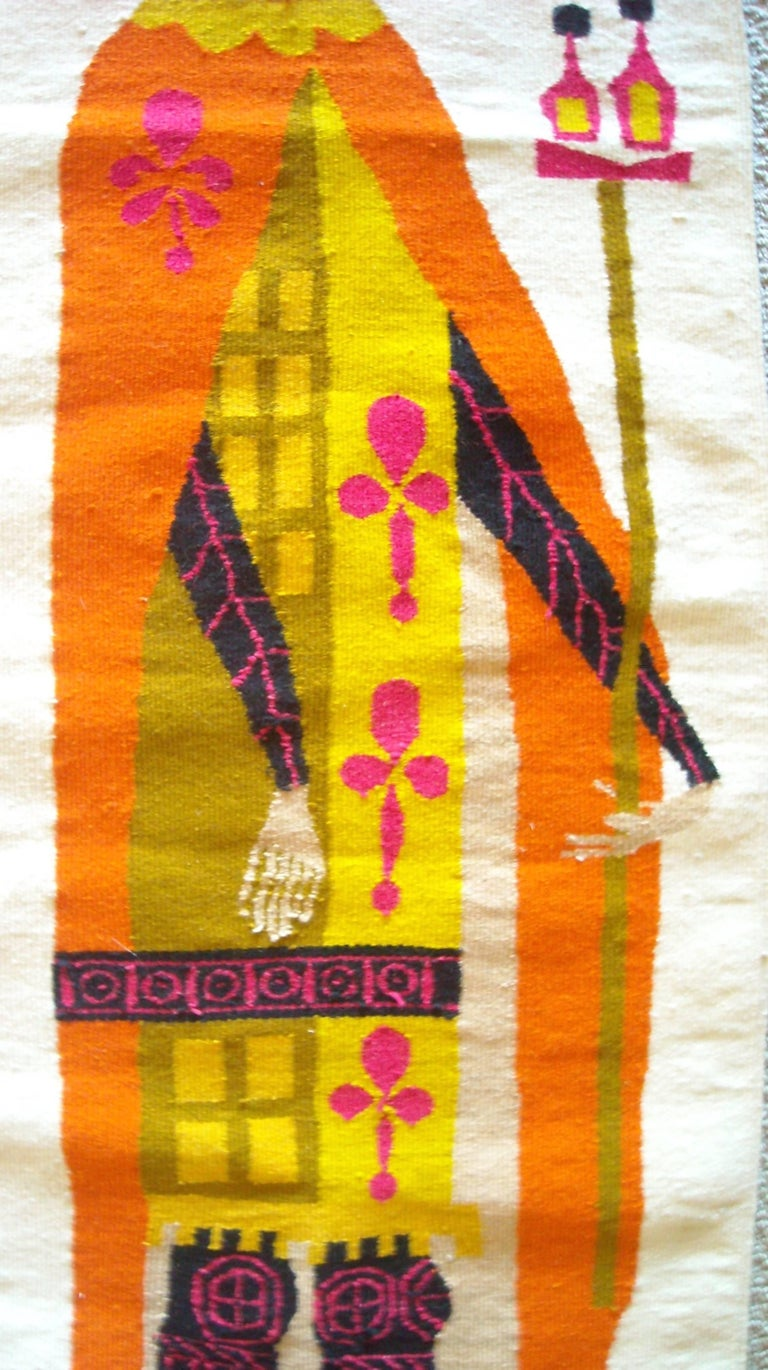 Mexican Evelyn Ackerman Wall Tapestry, Wool, Label, Signed For Sale