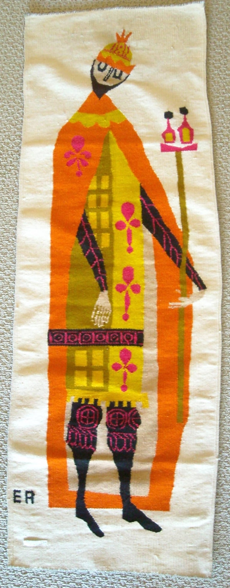 Woven Evelyn Ackerman Wall Tapestry, Wool, Label, Signed For Sale