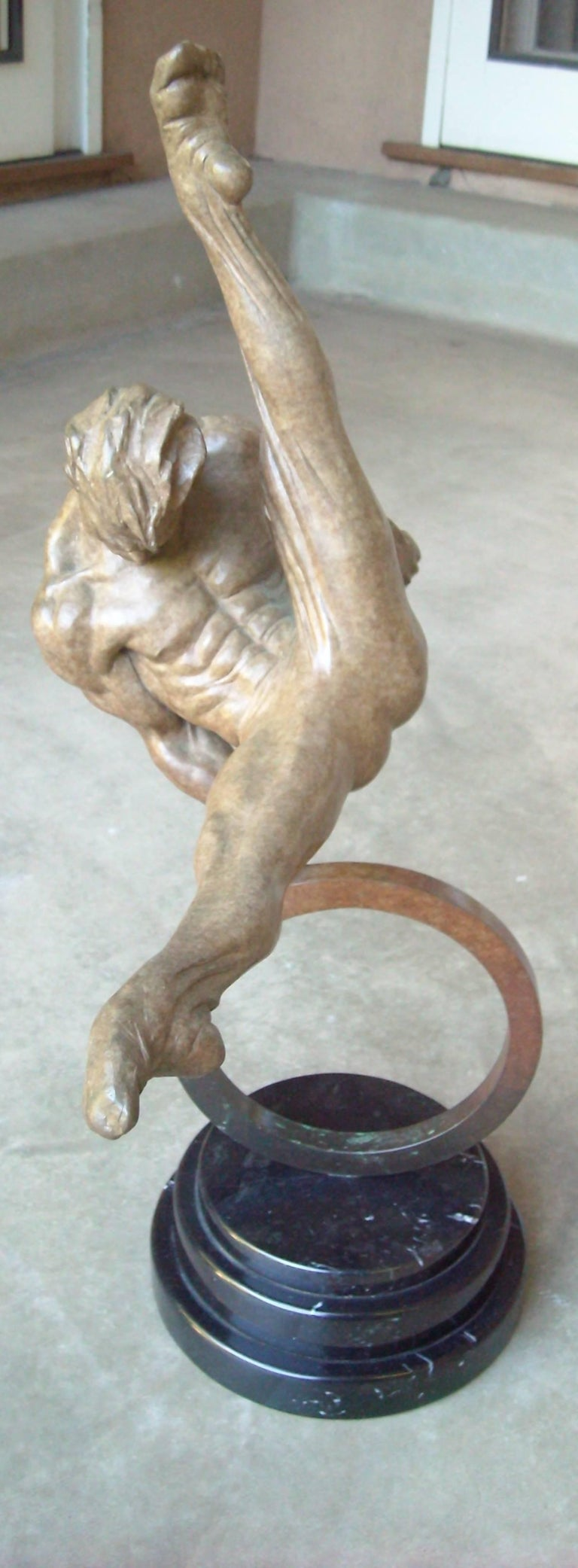 Richard MacDonald Athlete Bronze, Signed, Dated, Numbered 113/250 In Excellent Condition For Sale In Los Angeles, CA