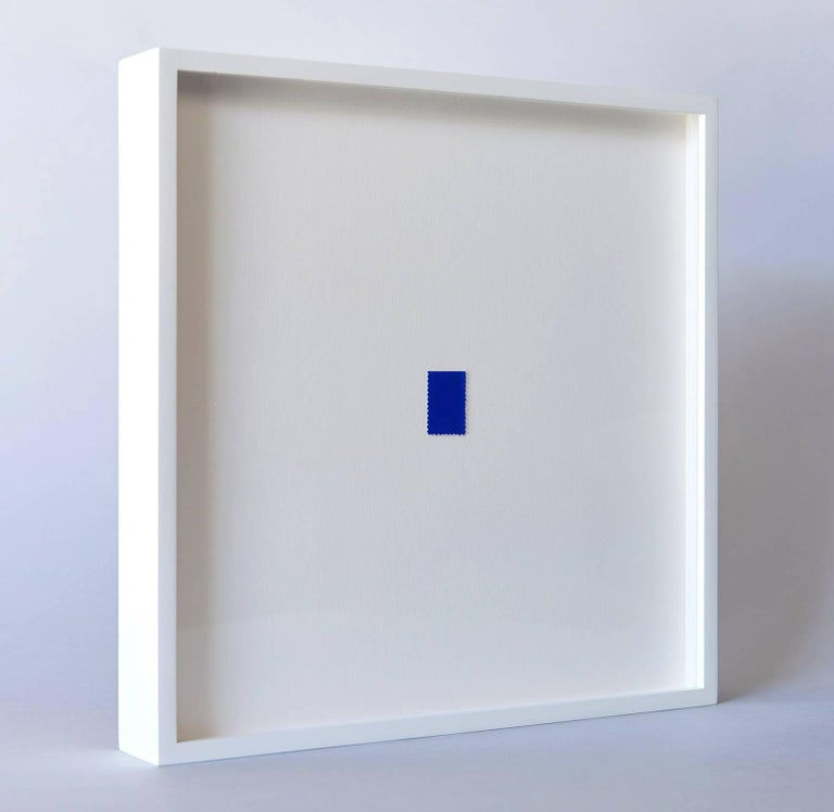 Modern Blue Stamp by Yves Klein For Sale