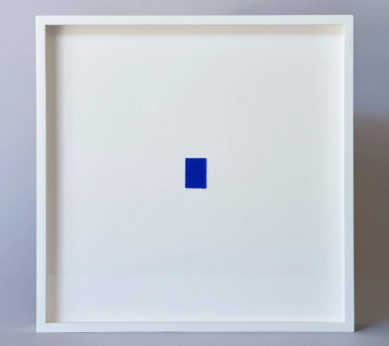 French Blue Stamp by Yves Klein For Sale