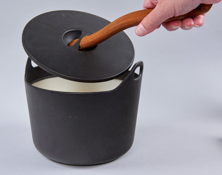 Finnish Cast Iron Cooking Pot by Timo Sarpaneva For Sale