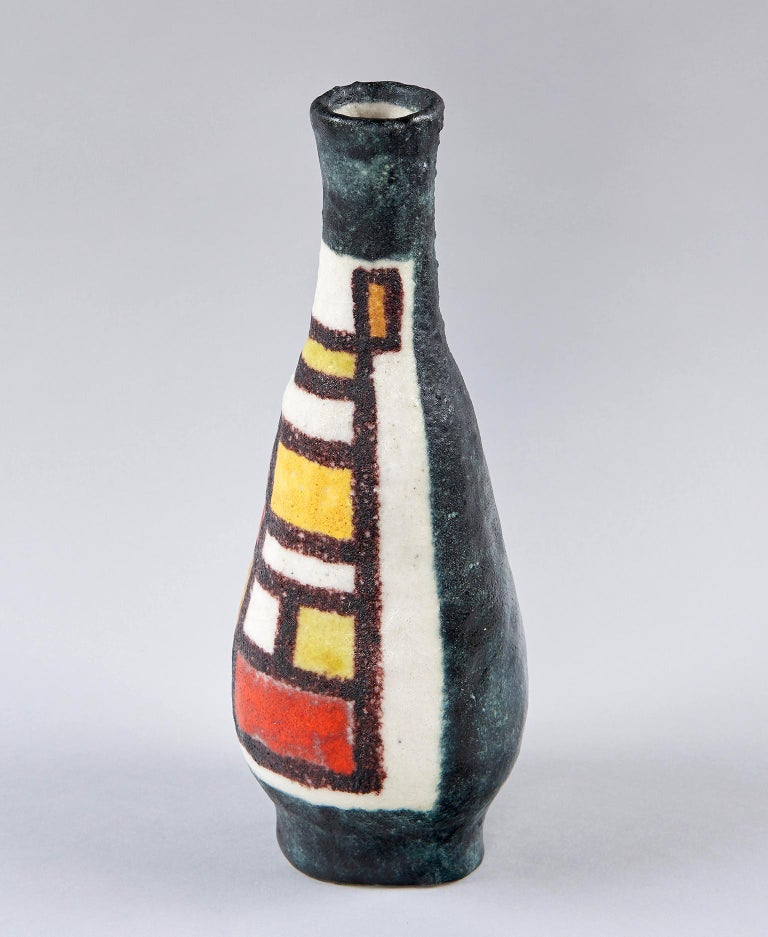 Earthenware Vase by Guido Gambone For Sale
