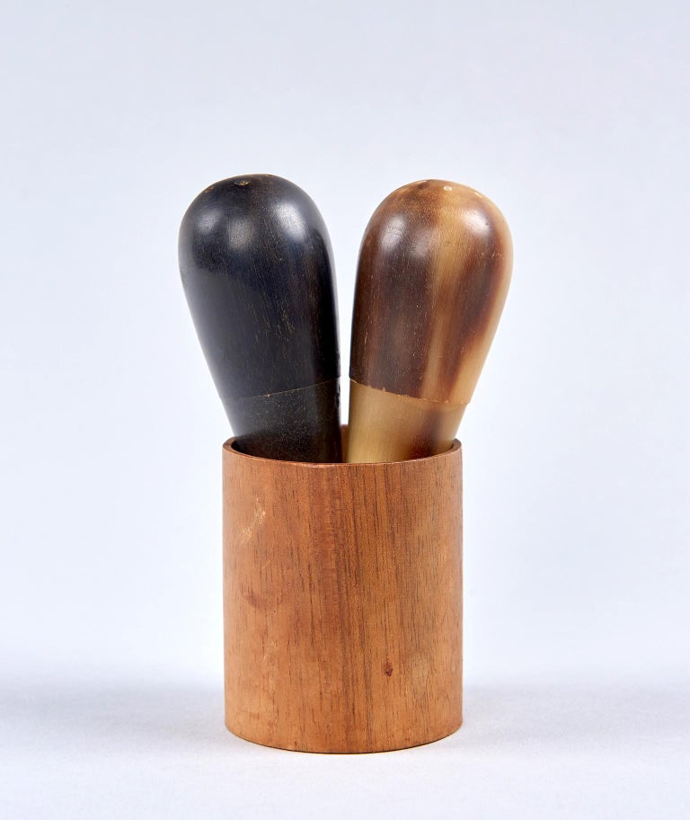 Turned Salt and Pepper Shakers by Carl Auböck For Sale