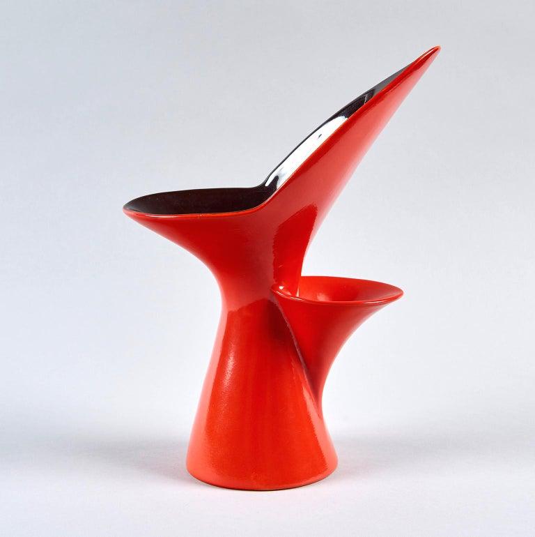Glazed Vase by Antonia Campi For Sale