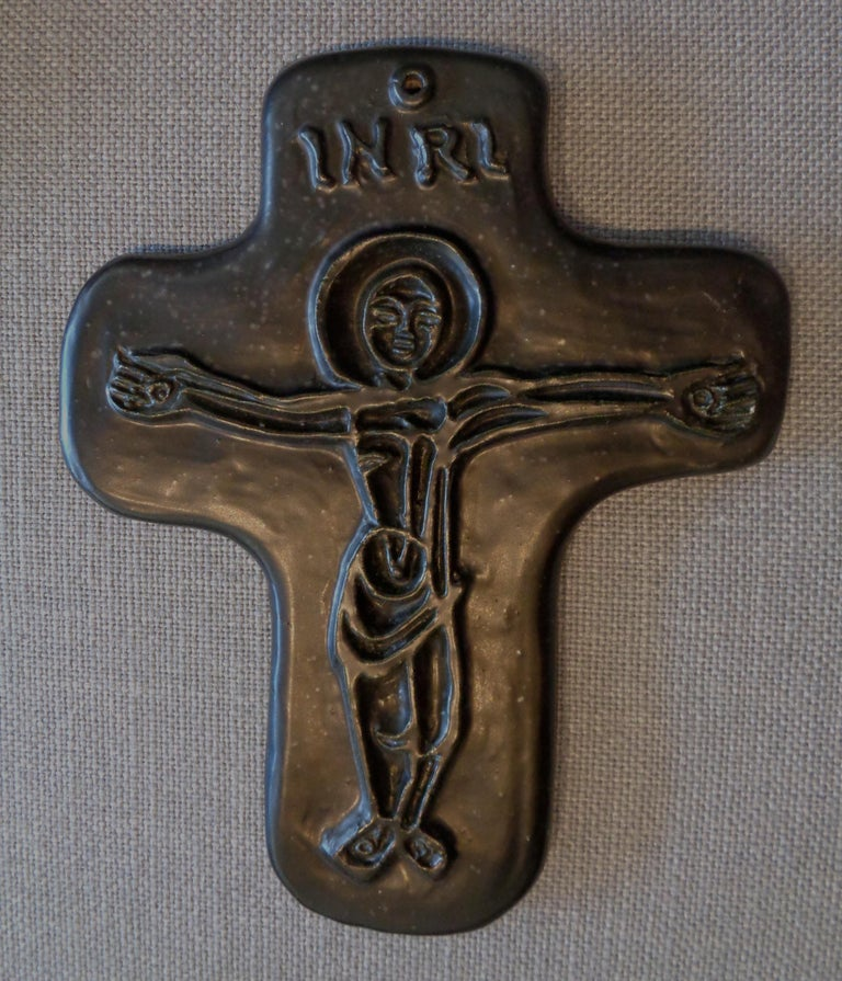Crucifix by Georges Jouve In Excellent Condition For Sale In Los Angeles, CA