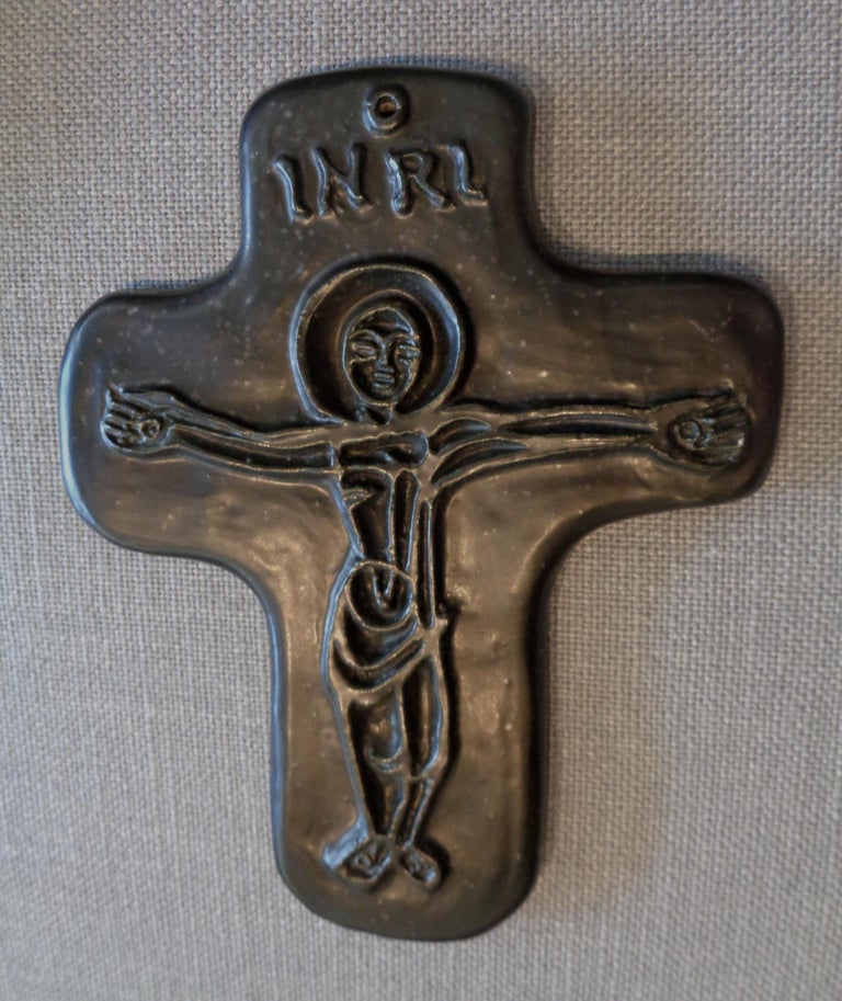 Mid-20th Century Crucifix by Georges Jouve For Sale