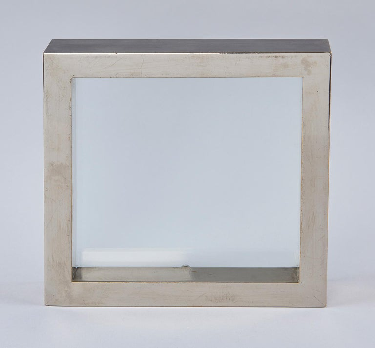 Nickel-Plated Brass Frame / Mirror by Gabriella Crespi In Good Condition For Sale In Los Angeles, CA