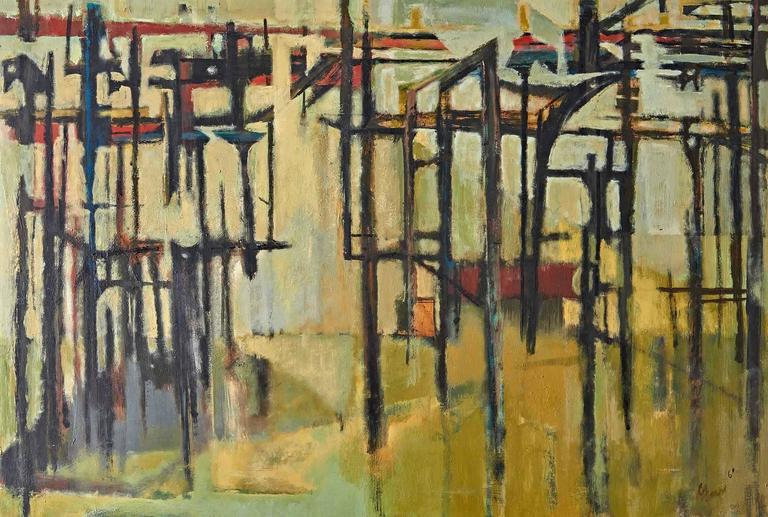 """San Francisco artist Charles Griffin Farr (American, 1908-1997) studied, during the 1920s, in New York (at the Art Student's League) and Paris. Always a representational painter, Farr called his style """"Precisionism,"""" but he evolved away"""