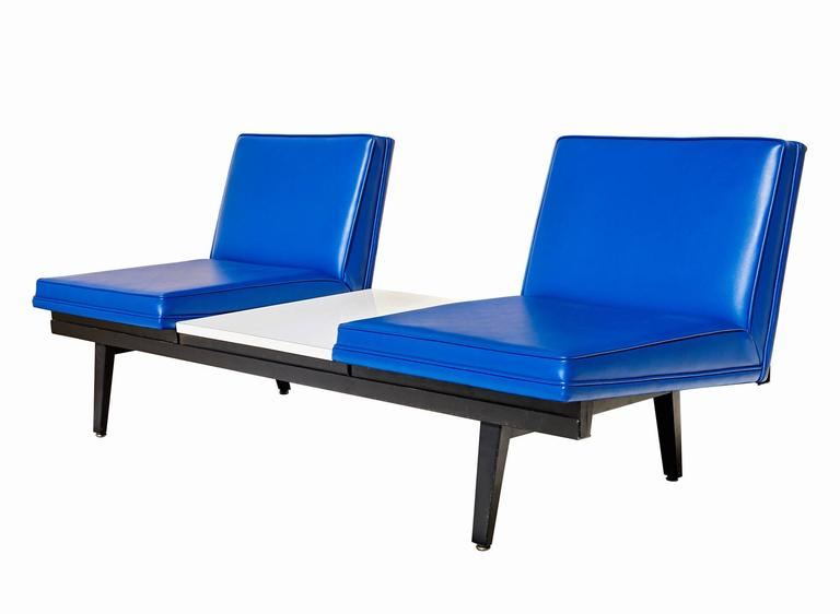"""Mid-Century Modern """"Steel Frame"""" Sofa by George Nelson For Sale"""