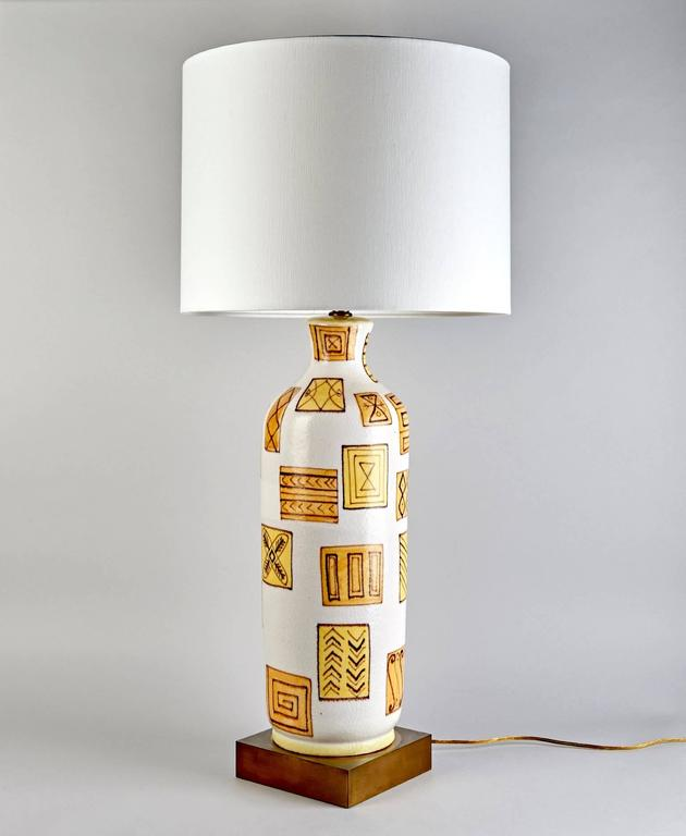 Italian Table Lamp by Guido Gambone For Sale