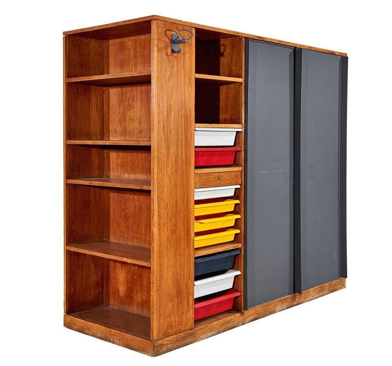 """""""Maison Du Brésil"""" Wardrobe / Room-Divider by Le Corbusier 3"""