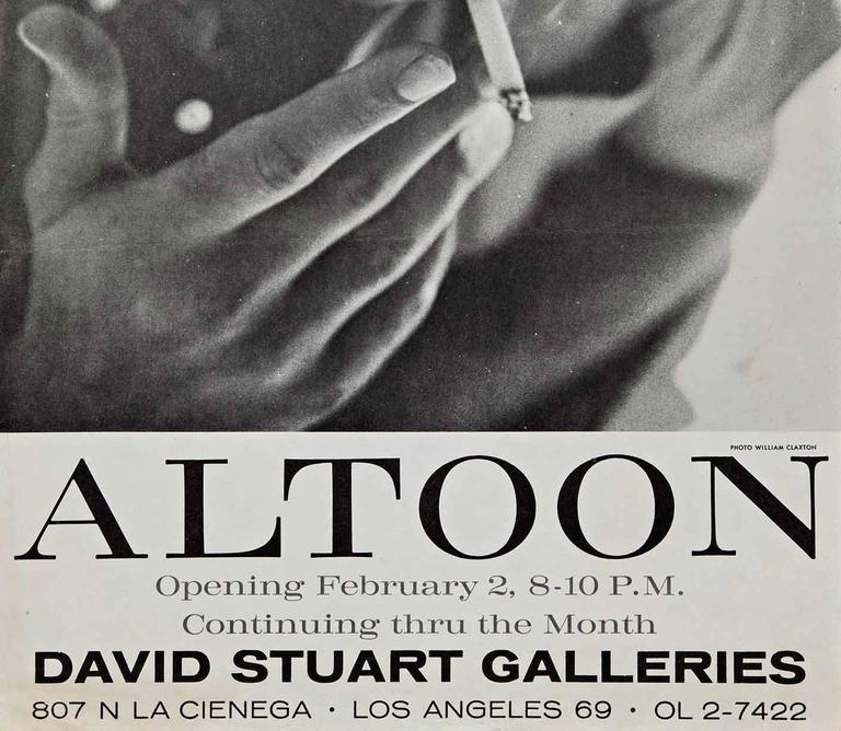 American Very Rare John Altoon Poster Photographed by William Claxton For Sale