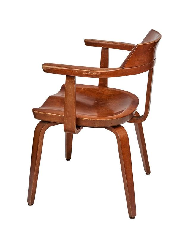 Nutwood Set of Eight Dining Chairs by Walter Gropius For Sale