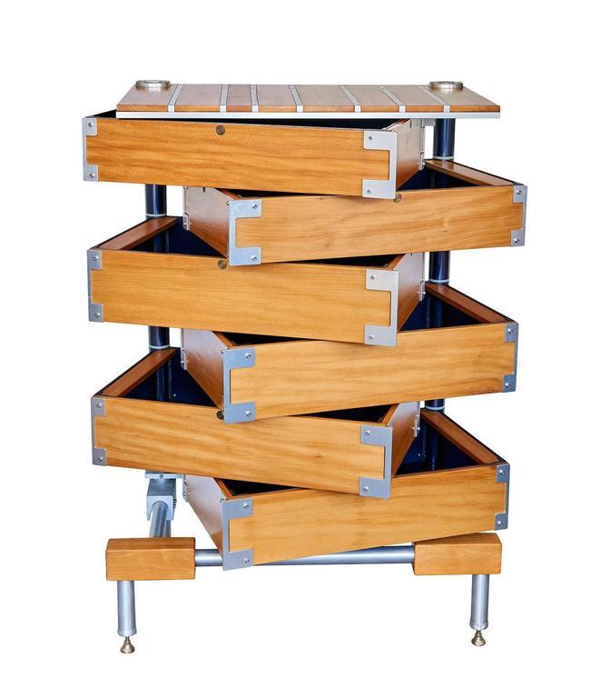 Aluminum Dresser by Marvin Drandell For Sale