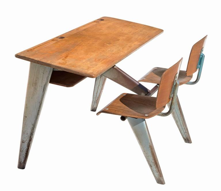 1946 Students' Desk by Jean Prouvé 3